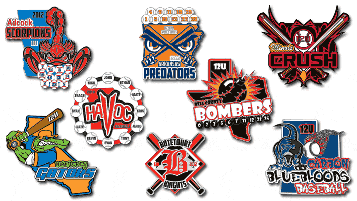 Baseball Trading Pins - Pins in as little as 4 days!