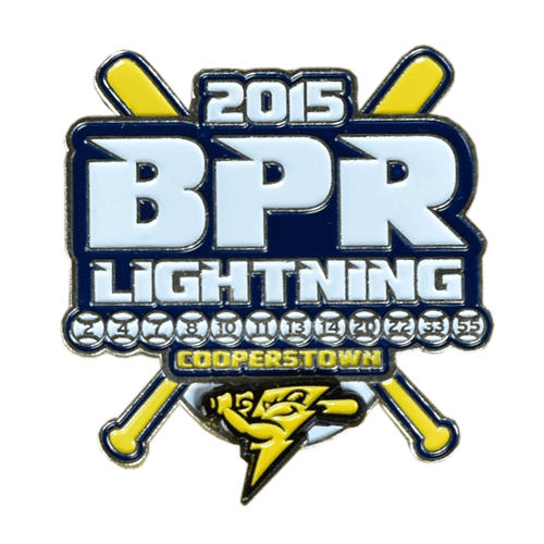 BPR Lightning Baseball Trading Pin Design