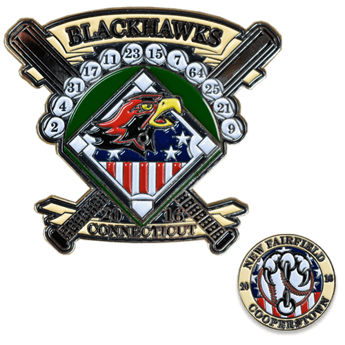 Blackhawks Baseball Trading Pin Design