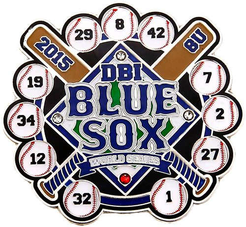 DBI Blue Sox Soft Enamel Baseball Trading Pin Example