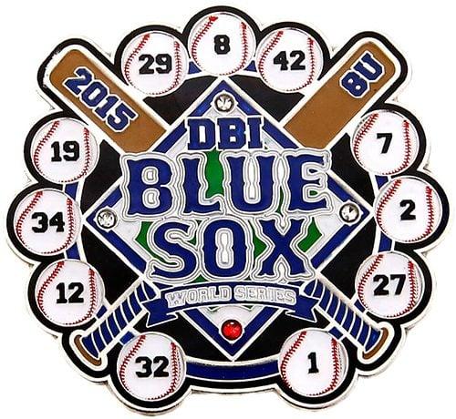 DBI Blue Sox Soft Enamel Baseball Trading Pin Example