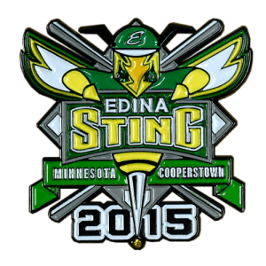 Edina Sting Baseball Trading Pin Design
