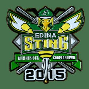 Edina Sting Baseball Trading Pin Design