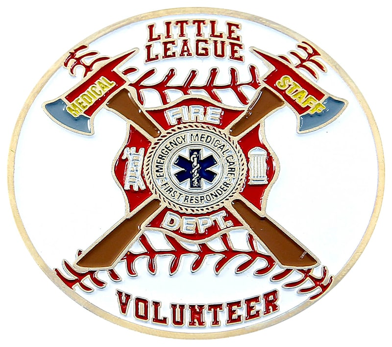 Soft Enamel Little Leaque Fire Department Sports Trading Pin