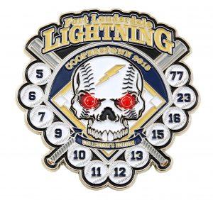 Fort Lauderdale Lightning Baseball Trading Pin