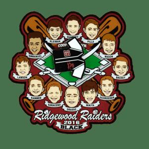 Ridgewood Raiders Baseball Trading Pin Design