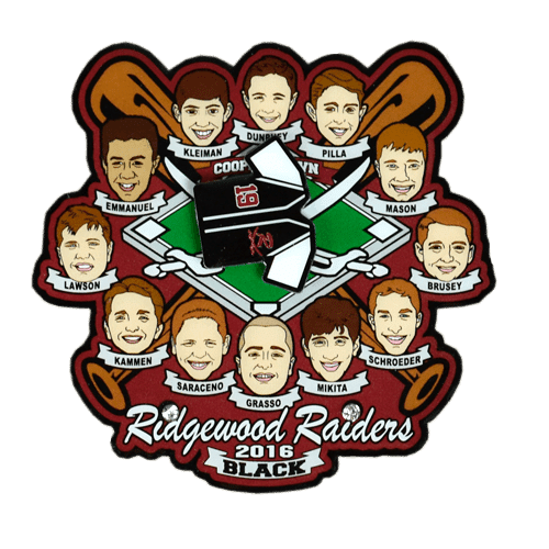 Ridgewood Raiders Sports Trading Pin in Offset Printed