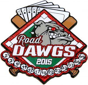 Road Dawgs Baseball Trading Pin Design