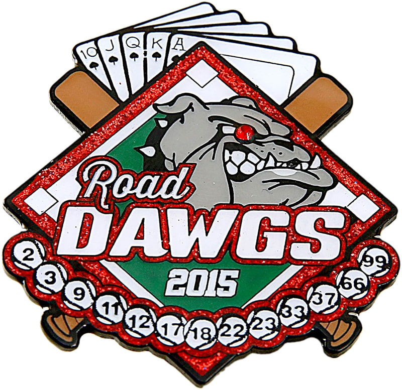 Road Dawgs Baseball Trading Pin Design