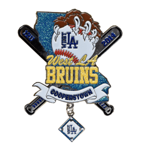 West LA Bruins Baseball Trading Pin Design