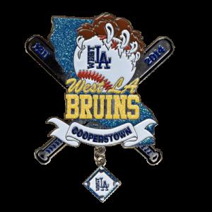 West LA Bruins Baseball Trading Pin Design