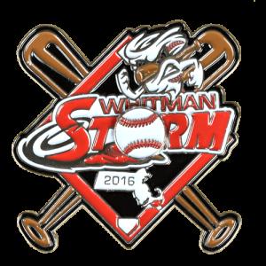 Whitman Storm Baseball Trading Pin Design