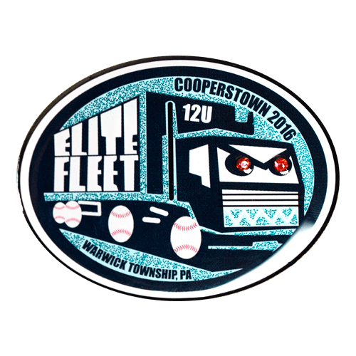 Offset Printed Custom Baseball Trading Pin Design