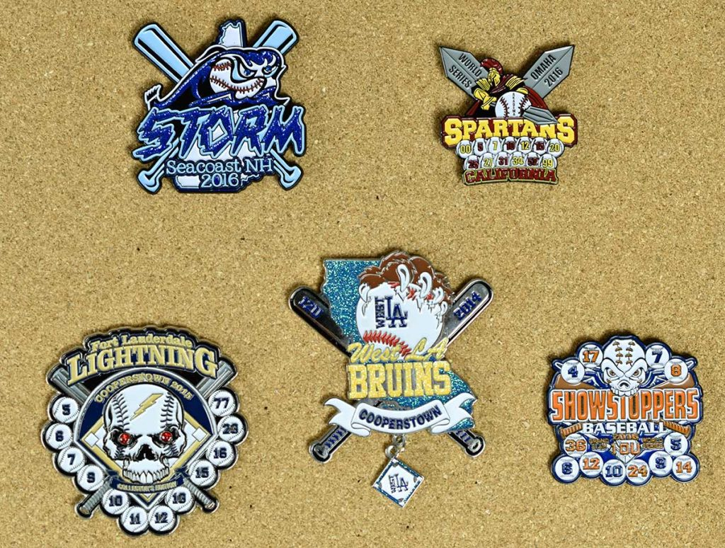 Baseball Trading Pin Upgrade Styles