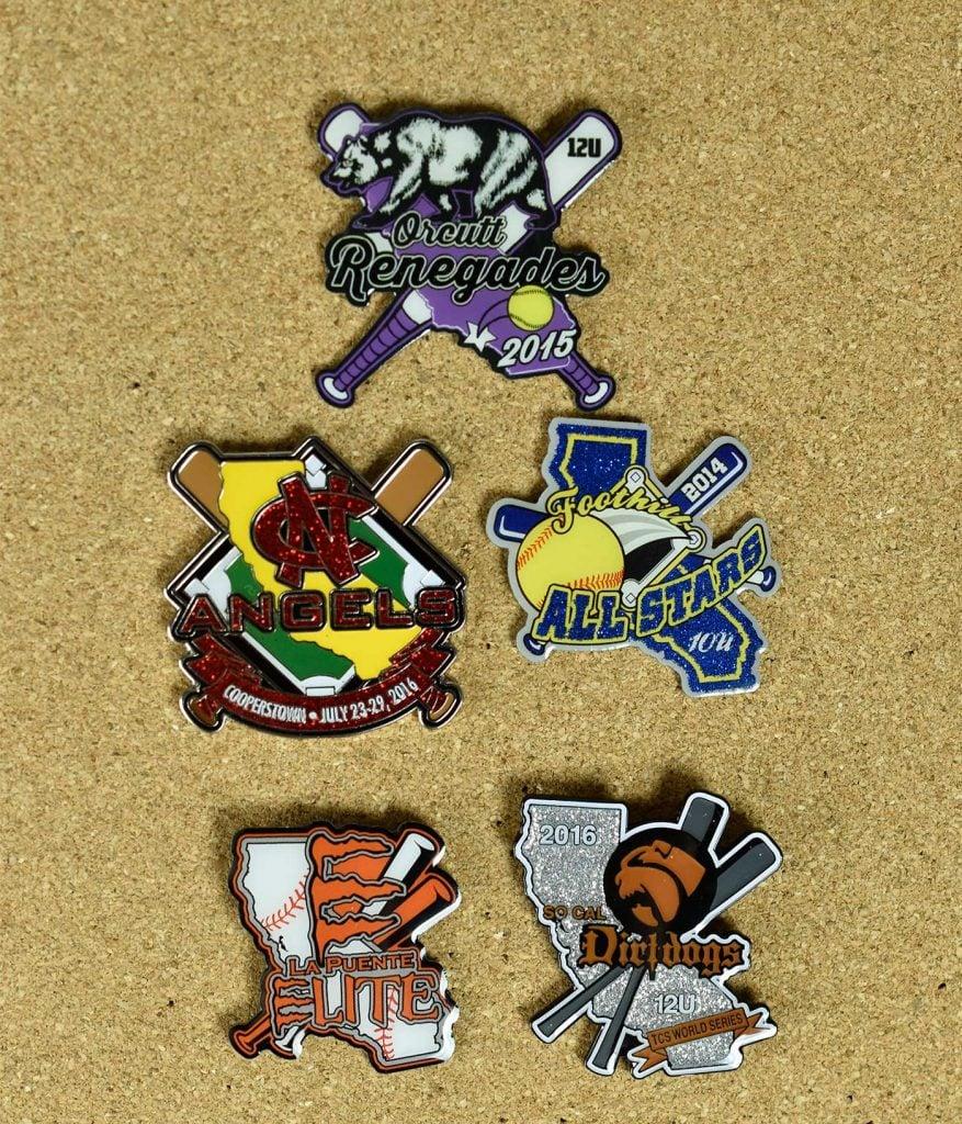 California Sports Trading Pin Styles