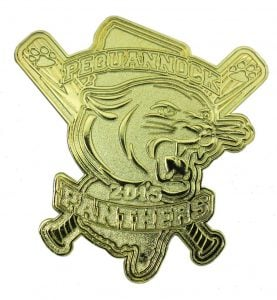 Panthers Gold Baseball Trading Pin Design