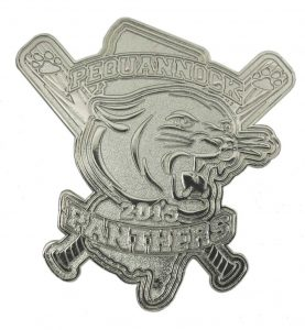 Panthers Silver Baseball Trading Pin Design