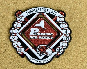 Cooperstown Baseball Trading Pin