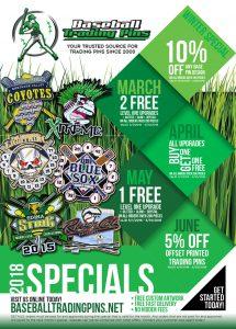 2018 Baseball Trading Pins Special