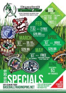 Baseball Pin Specials