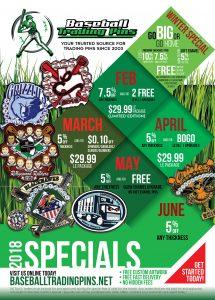 Baseball Trading Pin Specials