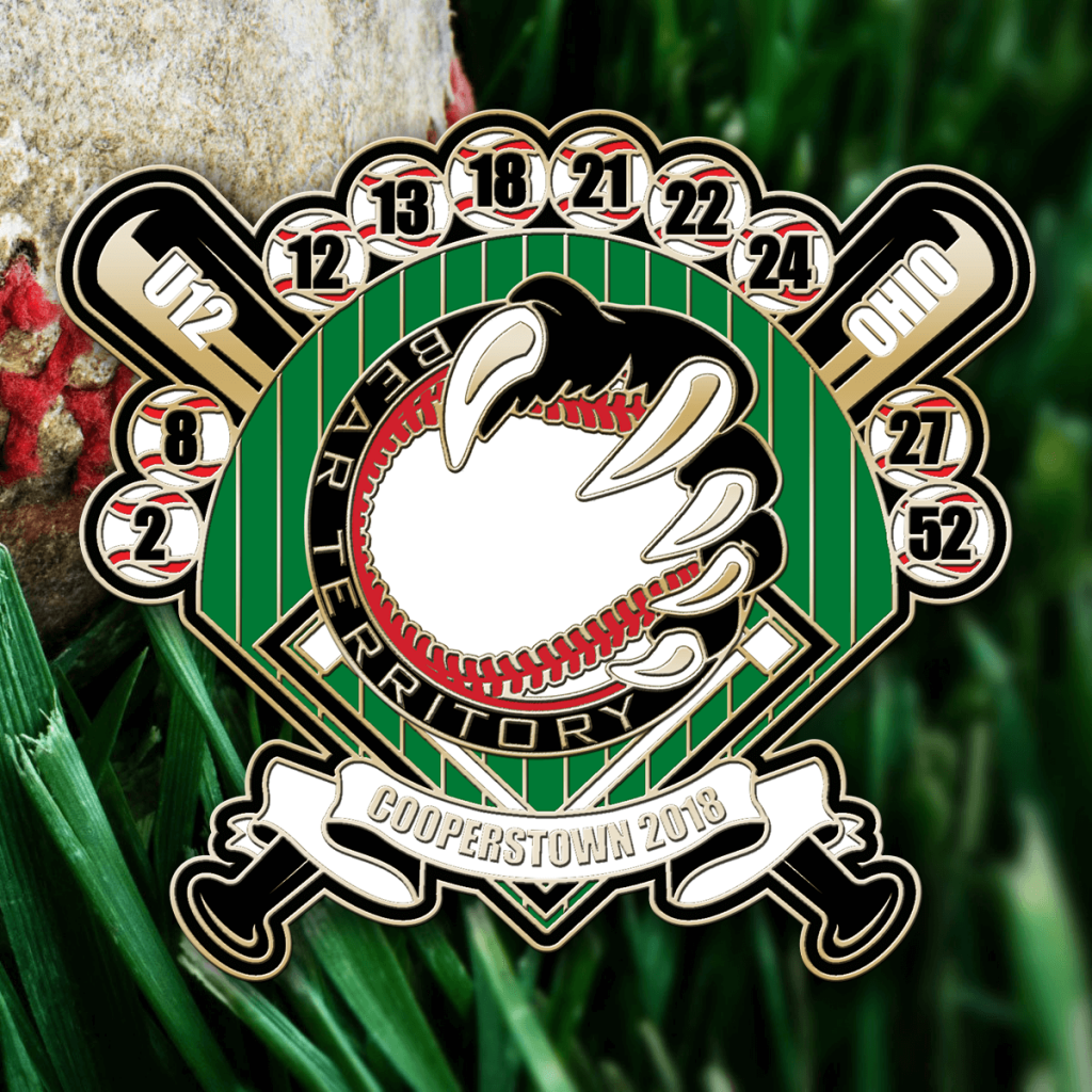 Bases Loaded Baseball Pin Design