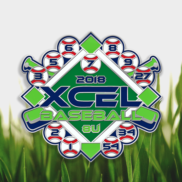 Batting Cleanup Trading Pin Design