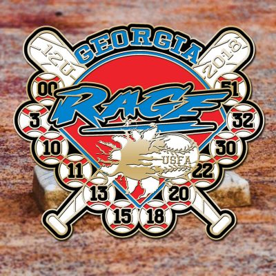 Double Header Trading Pin