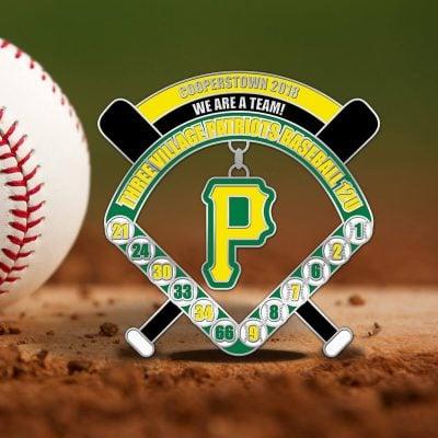 Inside the Park Baseball Trading Pin