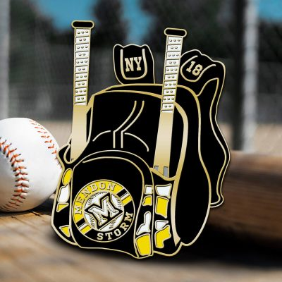 Pitch Runner Baseball Trading Pin